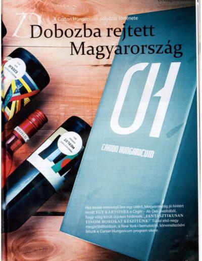 Dobozba rejtett Magyarország. A Carton Hungaricum pályázati története. In. Vince Magazin. Budapest, 2014. augusztus.