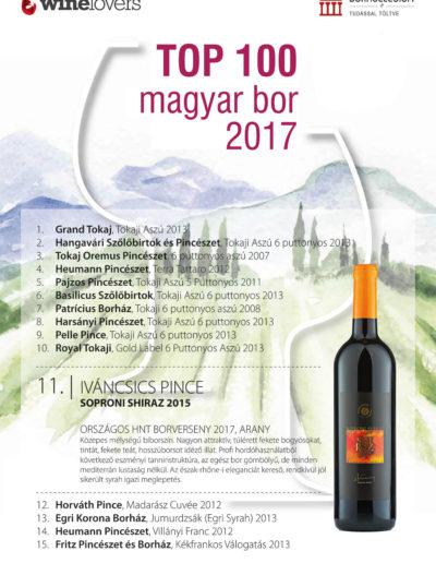 Top 100 magyar bor 2017 című kiadvány